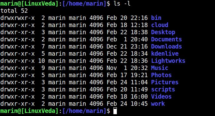 Lệnh ls trên Linux