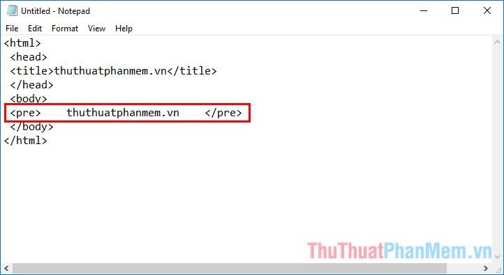 Sử dụng văn bản được định dạng sẵn trong HTML