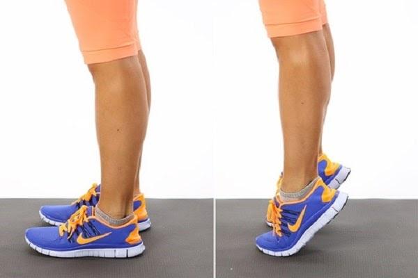 Bài tập nhón chân giúp chữa chân bị vòng kiềng