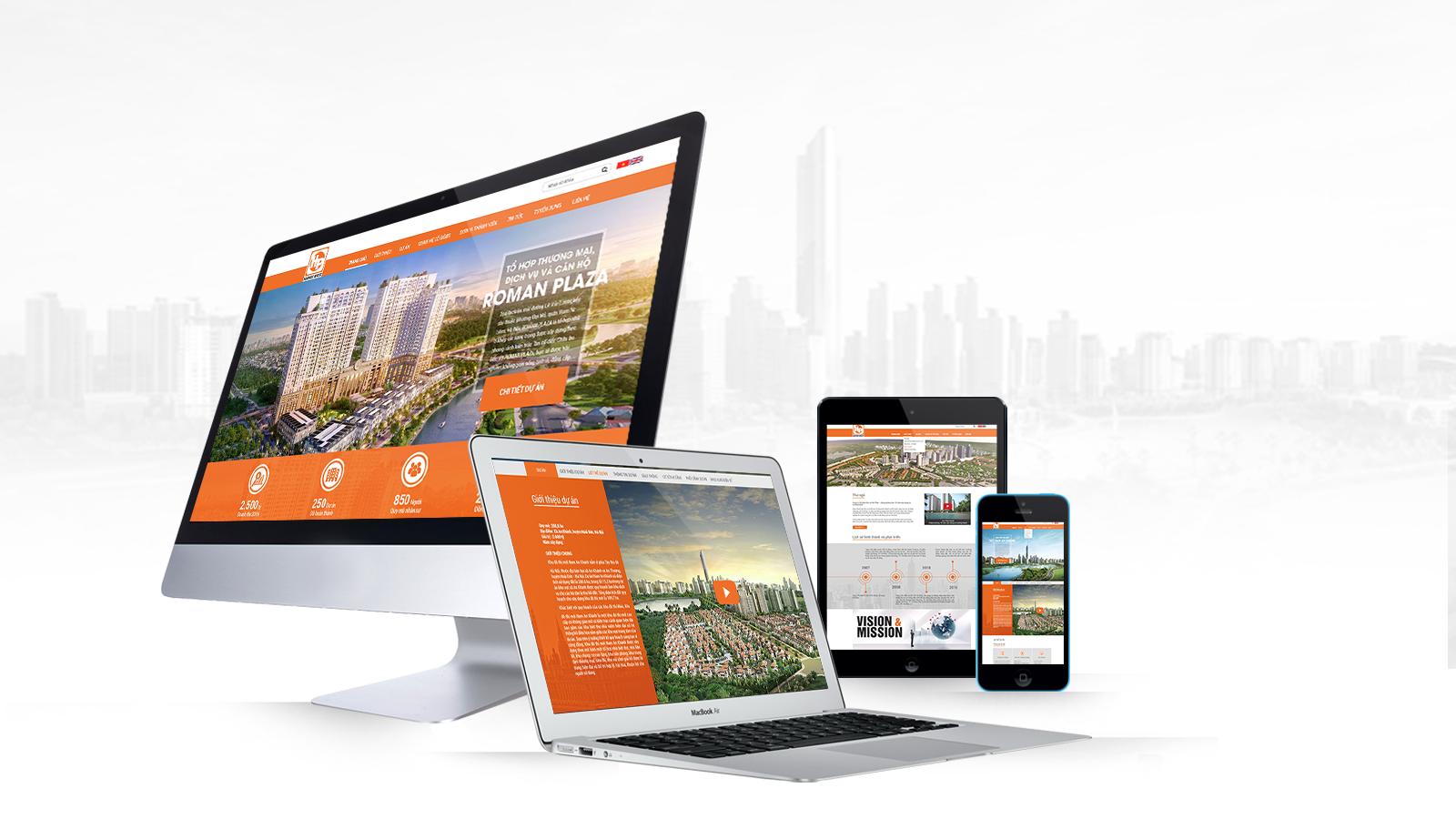 Dịch vụ thiết kế  trang web chuyên nghiệp